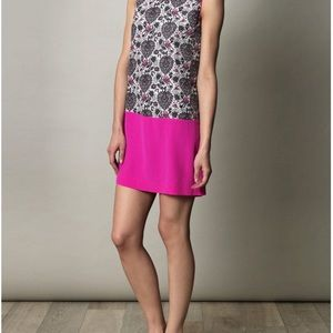 NWT Rebecca Taylor Lovebird Shift Dress Floral 4